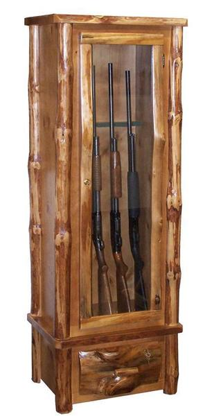Gun Security Cabinet >> Rustic 6 Gun Security Cabinet From Dutchcrafters Amish Furniture