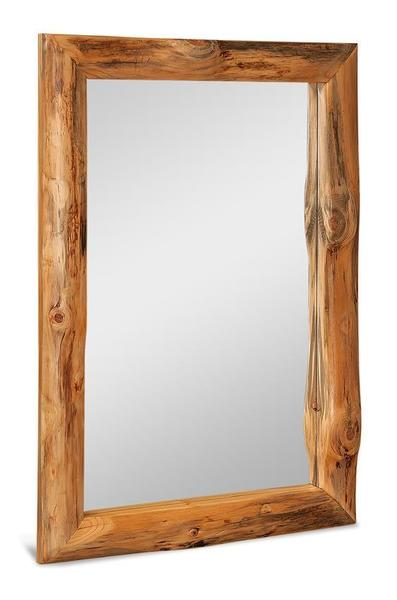 Amish Rustic Log Mirror Rectangular