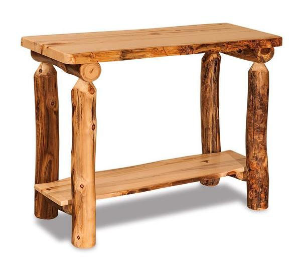 Lake Cabin Log Sofa Table from DutchCrafters Amish Furniture
