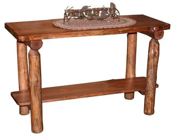 Amish Log Furniture Sofa Table