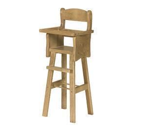 Amish Wooden 18 Doll High Chair