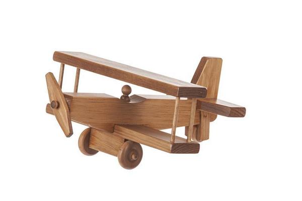 American Made Wooden Toy Airplane - Large