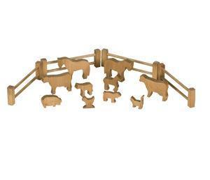 Amish Wooden Toy Farm Animal Set