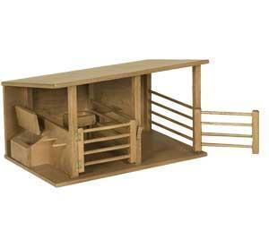Amish Wooden Toy Horse Stable