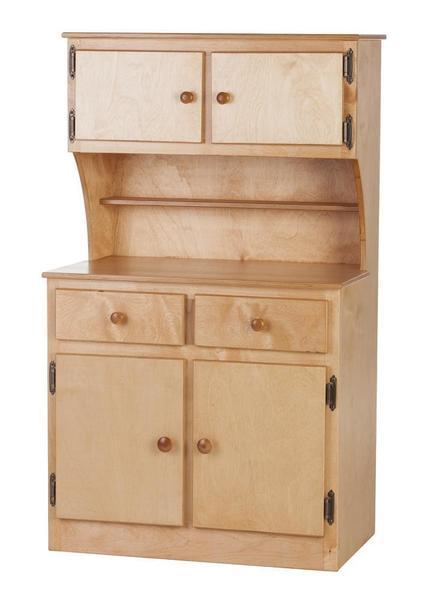 Amish Maple Kids Play Kitchen Cabinet Hutch