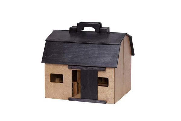 Amish Fold and Go Barn: Wooden Toy Barn and Farm Animal Set