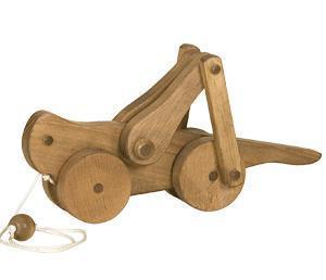 Amish Handmade Wooden Pull Toy for Toddlers -  Grasshopper