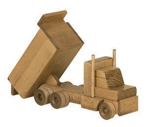 Amish Wooden Toy Dump Truck