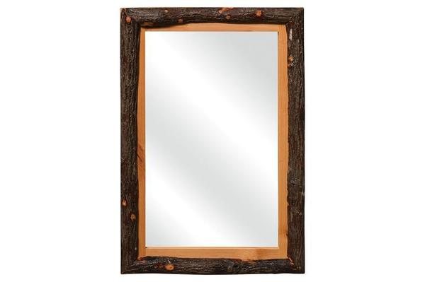 Amish Rustic Hickory Framed Mirror