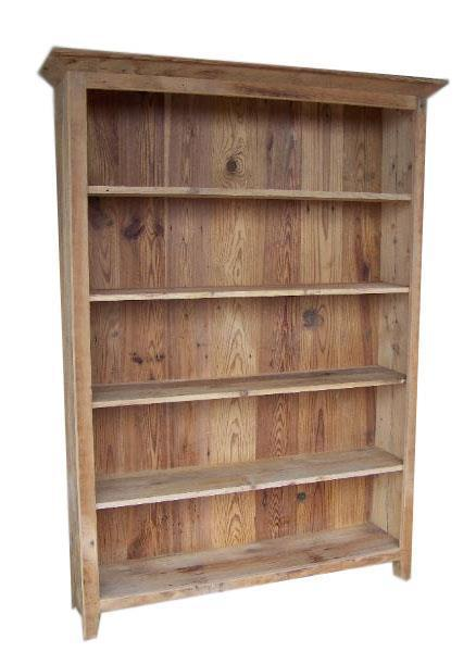 Amish Reclaimed Barnwood Double Bookshelf