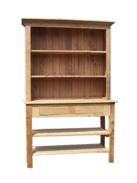 Amish Barnwood Farmhouse Stepback Hutch