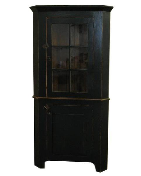 Pine Corner Cabinet Hutch From Dutchcrafters Amish Furniture