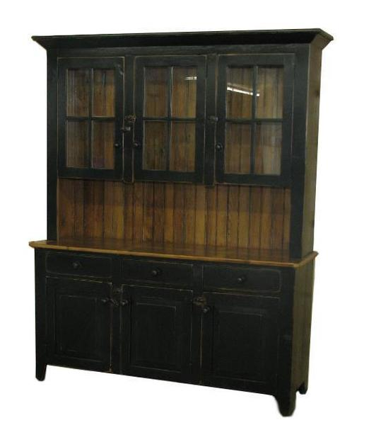 "Amish Barnwood 62"" Buffet with Hutch"