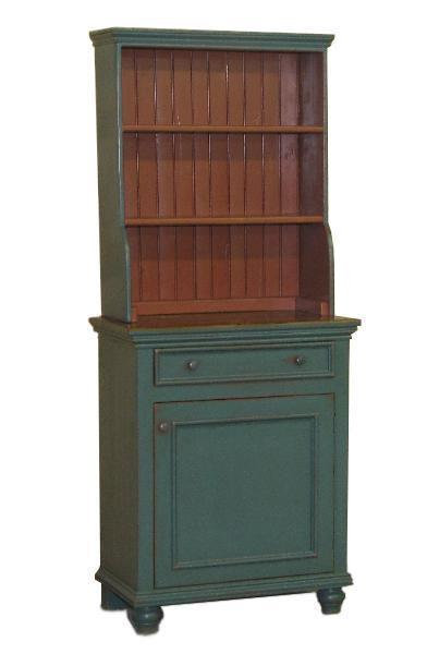 Amish One Door Server with Hutch Top