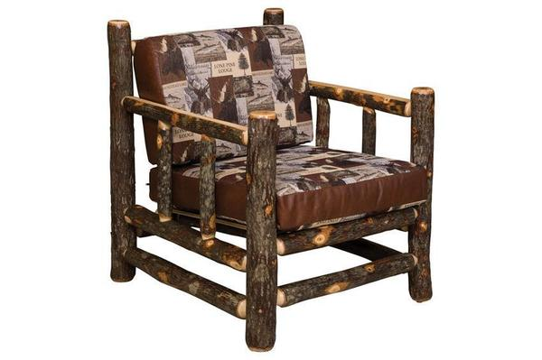 Amish Rustic Hickory Lodge Lounge Chair
