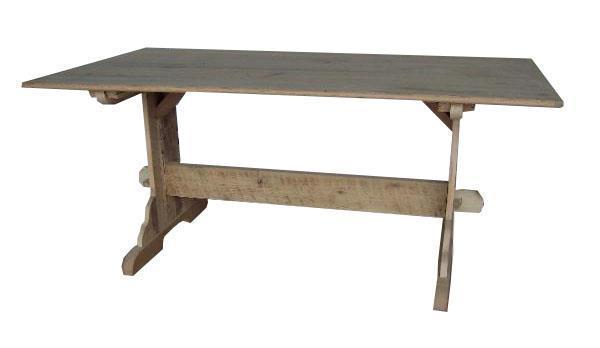 Amish Trestle Dining Table with One Inch Top