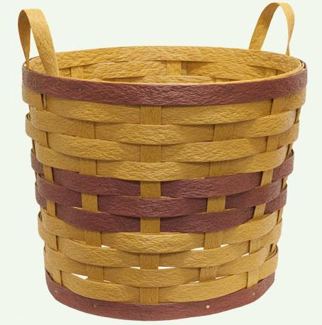 Amish Eco Friendly Two Handle Planter Basket