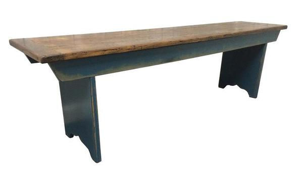 Amish Reclaimed Wood Farmhouse Bench