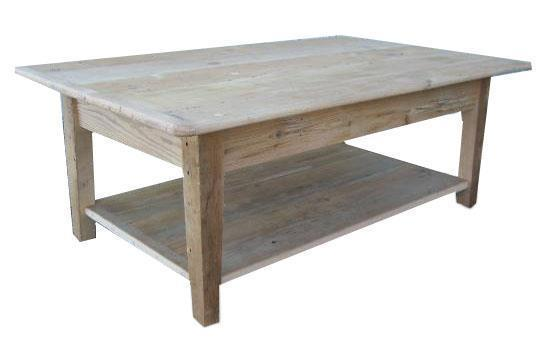 Amish Shaker Coffee Table with Shelf