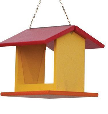 Amish Small Poly Rectangle Bird Feeder