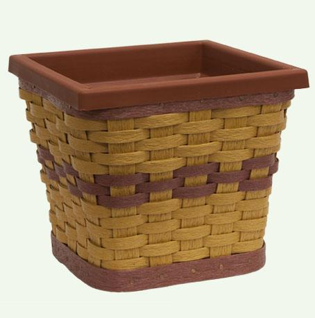 Amish Eco Friendly Square Planter Basket