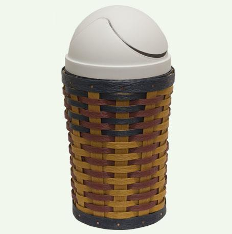 Amish Eco Friendly Small Trash Can with Lid