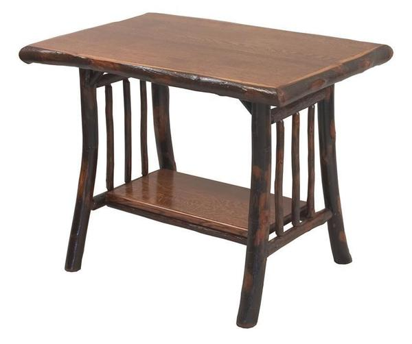 Amish Noble Rustic Hickory Library Table