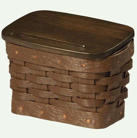 Amish Made Recipe Basket with Lid