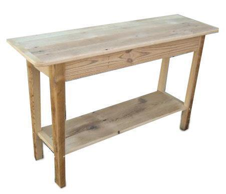 Amish Shaker Console Table with Shelf