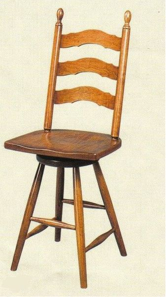 Amish French Country Bar Stool with Swivel