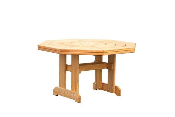 Amish Pine Wood Octagon Patio Dining Table