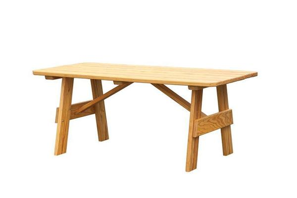 Amish Pine Wood Outdoor Dining Table