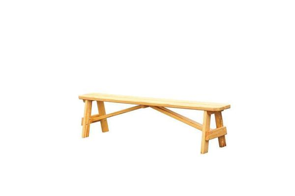 Amish Pine Wood Outdoor Backless Garden Bench