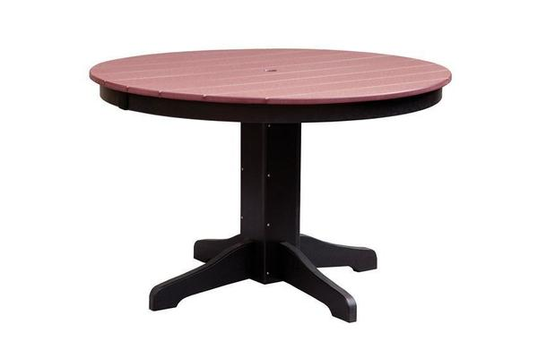 "48"" Round Poly Patio Dining Table"