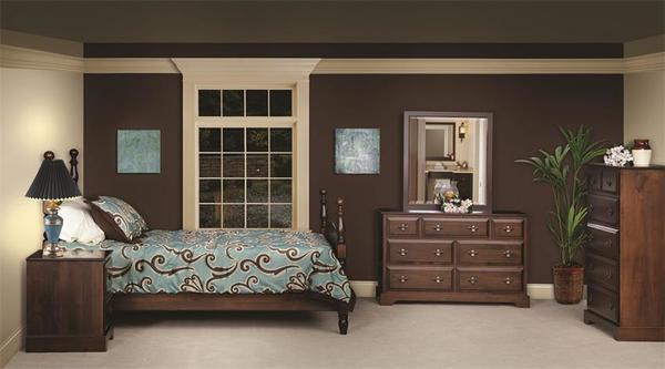 Amish Harvest Five Piece Bedroom Furniture Set in Maple Wood