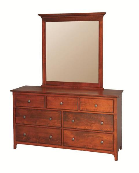 "Amish Plymouth Dresser with Optional Mirror -- 32"" High"