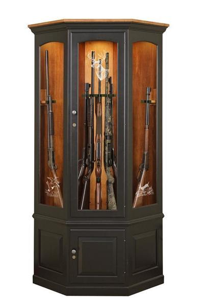 Amish Corner Gun Safe Cabinet  sc 1 st  DutchCrafters & Custom Wooden Corner Gun Cabinet by DutchCrafters Amish Furniture