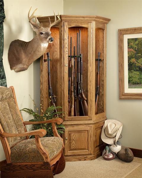 Amish Corner 14 Gun Safe Cabinet