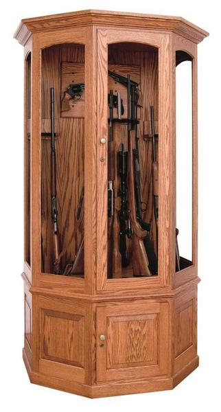 Amish Frontier Hardwood 16 Gun Cabinet From Dutchcrafters