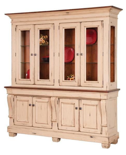 Amish Hartford French County 4 Door Dining Hutch