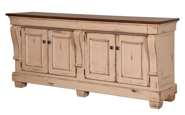 Amish Hartford French Country 4-Door Buffet Sideboard