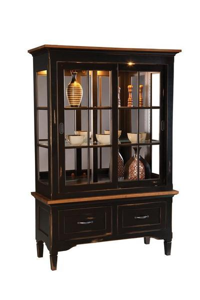 Merveilleux Amish Lexington China Cabinet