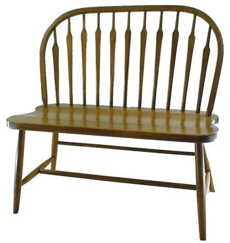 Amish Arrow Bow Windsor Bench