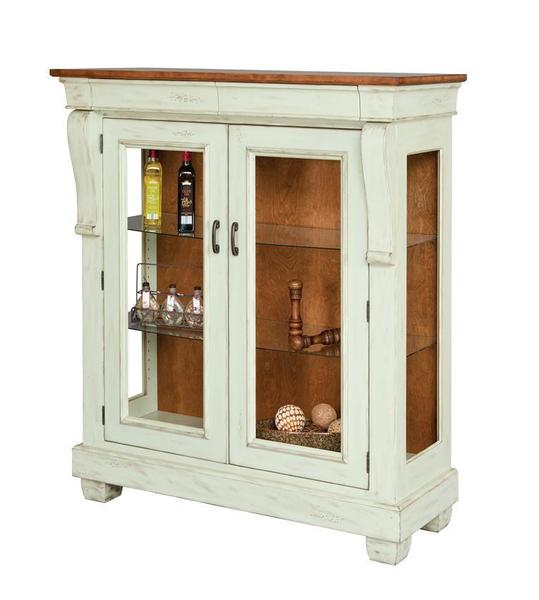 Amish Hartford French Country China Cabinet