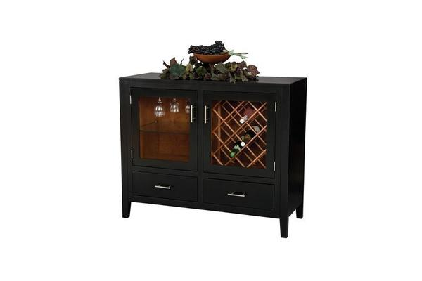Amish Tuscany Wine Server Cabinet