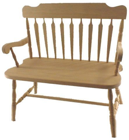Amish Solid Wood Deacon Bench