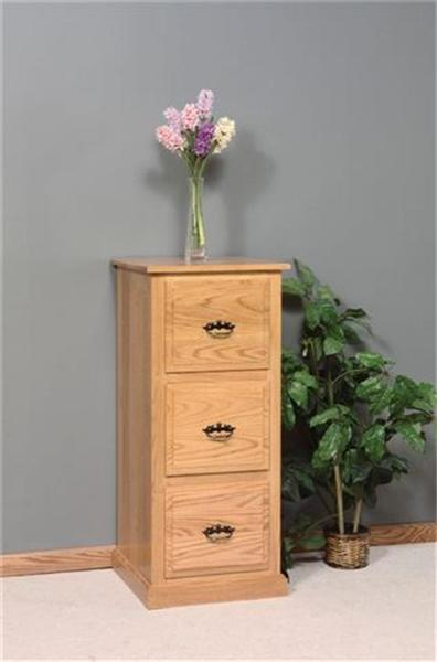 Amish Three Drawer Traditional File Cabinet