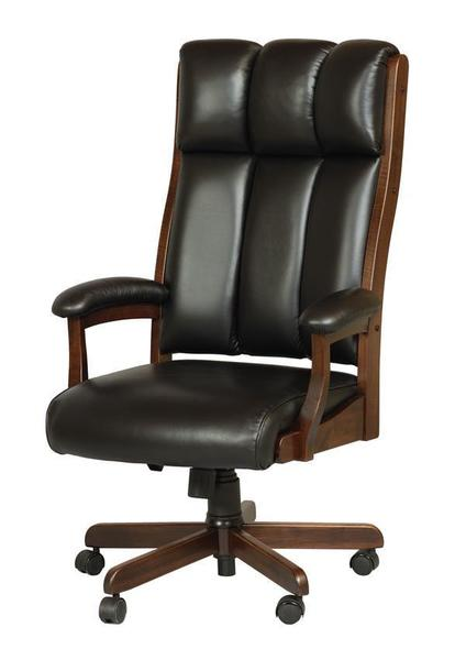 Amish Made Clark Executive Desk Chair with Gas Lift