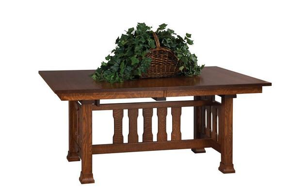 Amish Monterey Mission Trestle Table