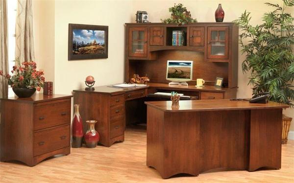 Amish Prairie Mission Desk with Light Suite